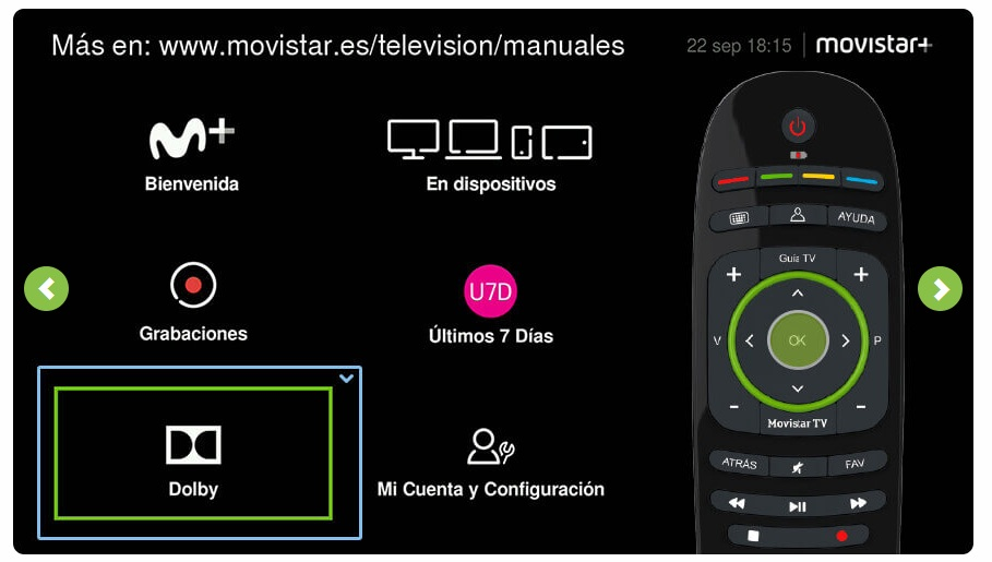 dolby guia Movistar TV Movisfera