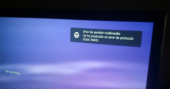 error DLNA Imagenio