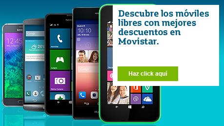 Los móviles libres con mejores descuentos a la venta en Movistar
