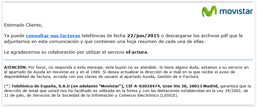 Ojo correo electr nico fraudulento de factura for Correo comunidad de madrid