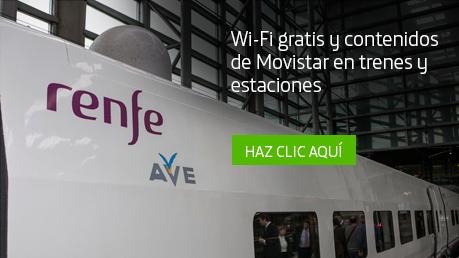 Wifi gratis y contenidos digitales de Movisfera en trenes y estaciones