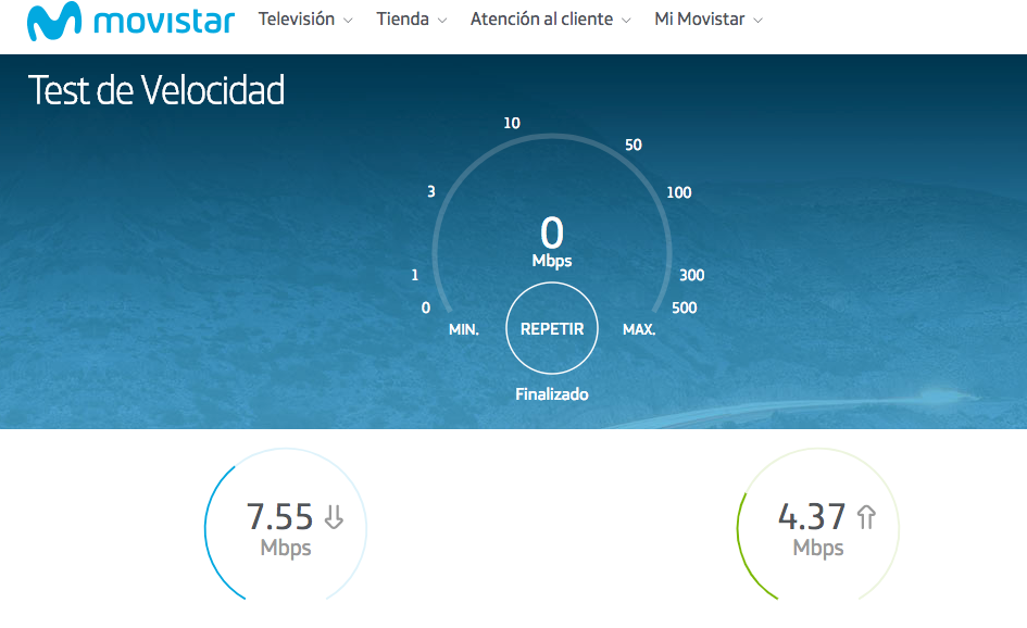 Velocidad router wifi 6pm