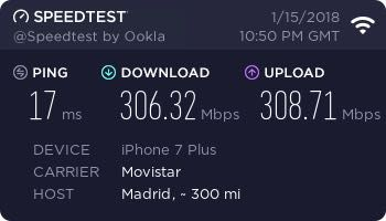 Test velocidad WiFi 300 MB iPhone 7 Plus 2018ene20 .jpg