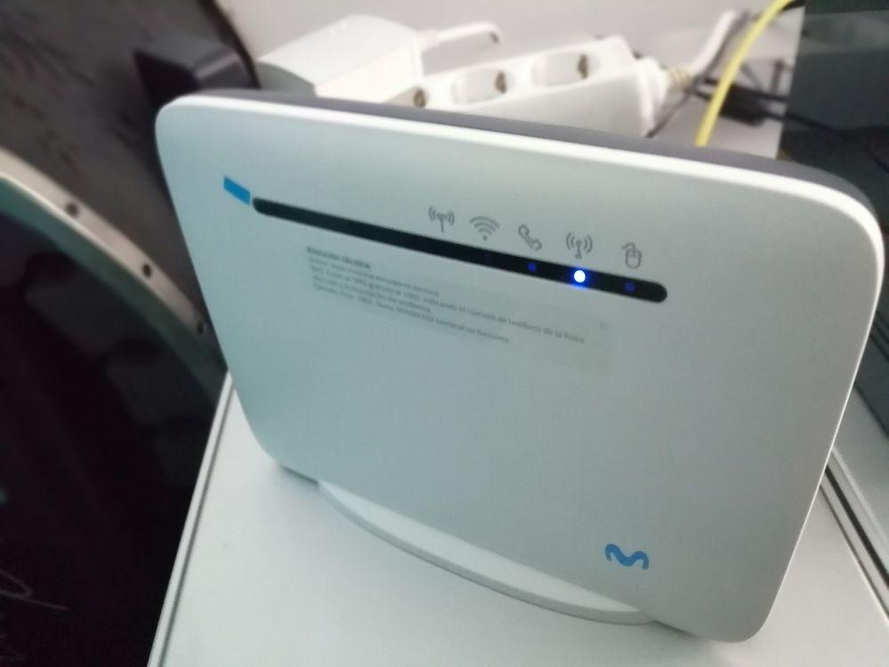 router se apaga
