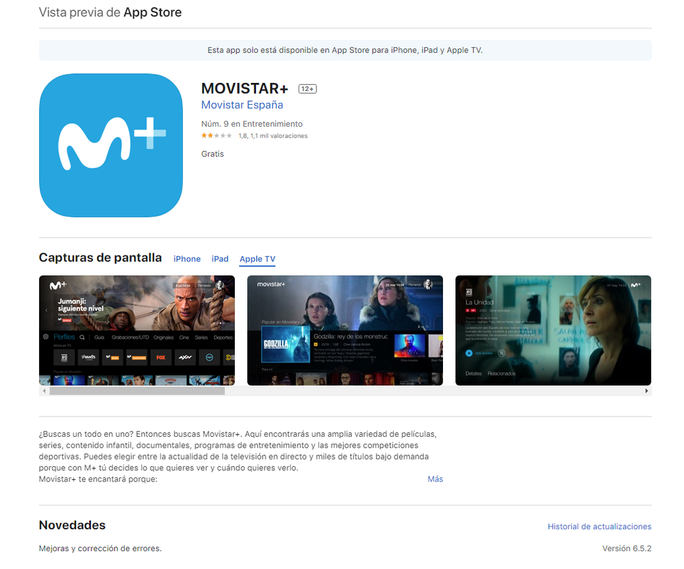 Movistar+ para Apple TV 2020ago03.png