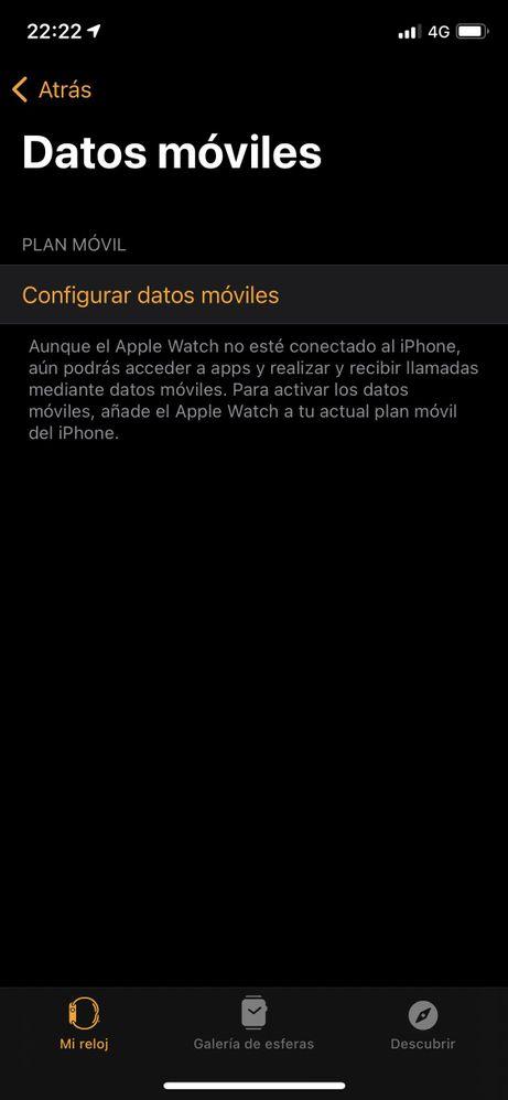 "Pestanña ""Datos móviles"""