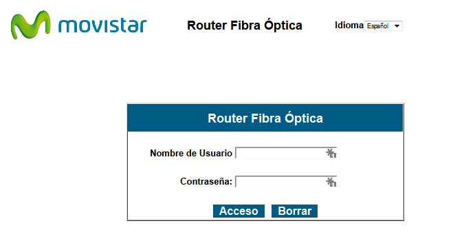 Acceso local al router VG8050