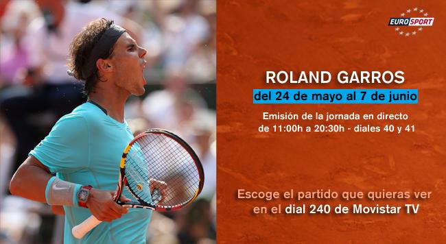 El torneo de tenis de Roland Garros en Movistar TV