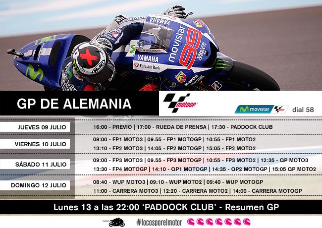Horarios GP de Alemania_Movistar MotoGP