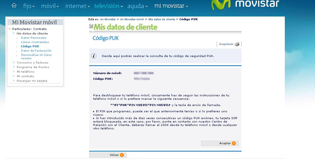 Hasta cinco números Movistar