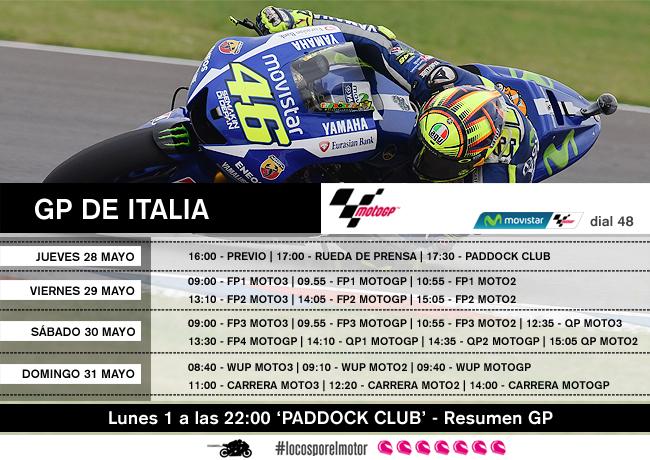 Horarios GP de Italia en Movistar MotoGP